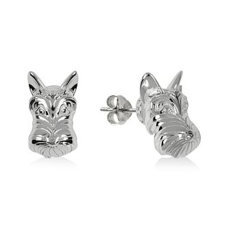 Radley Silver Tone Scottie Dog Stud Earrings - Product number 1152475