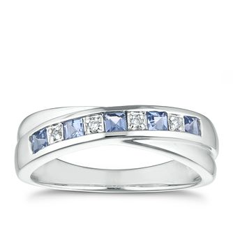 9ct White Gold Tanzanite Diamond Ring - Product number 1153293