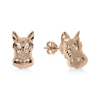 Radley Rose Gold Tone Scottie Dog Stud Earrings - Product number 1156446