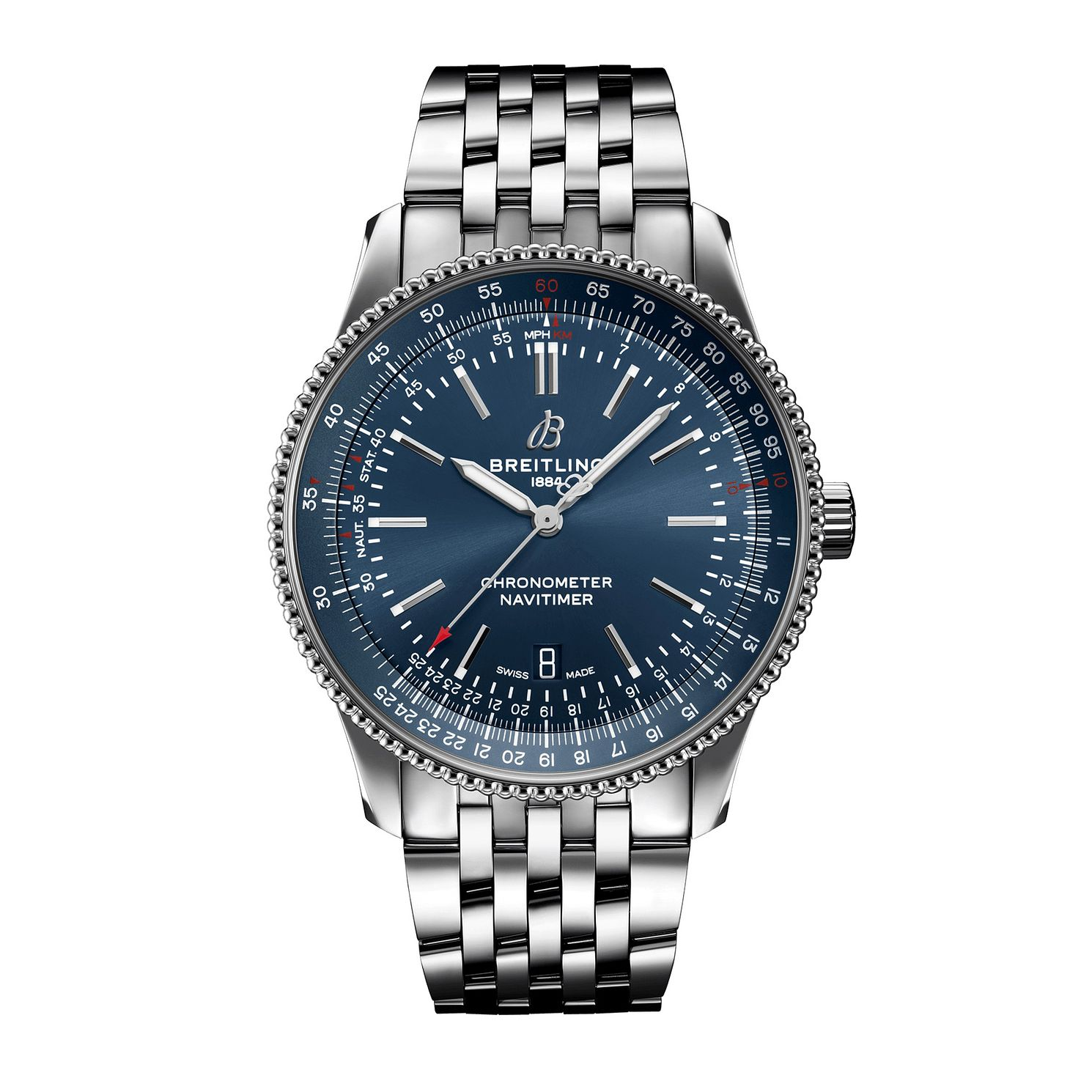 Breitling Navitimer Automatic 41 Blue Steel Bracelet Watch - Product number 1157965