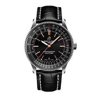 Breitling Navitimer Automatic 41 Black Leather Strap Watch - Product number 1157973