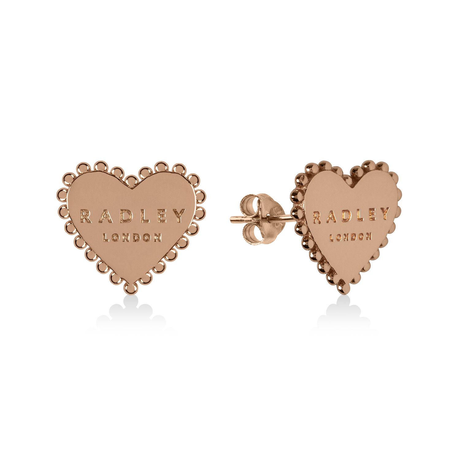 Radley Rose Gold Tone Heart Stud Earrings - Product number 1157981