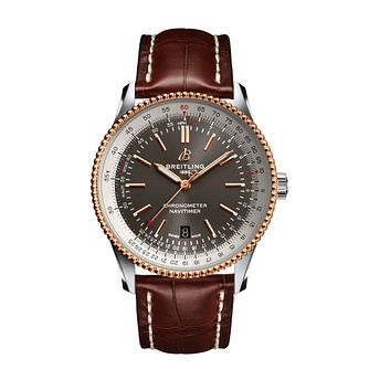 Breitling Navitimer Automatic 41 Brown Leather Strap Watch - Product number 1158007