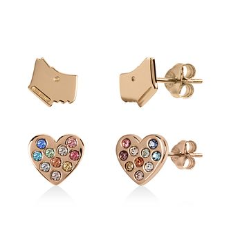 Radley Rose Gold Tone Dog & Heart Stud Earrings Gift Set - Product number 1158058
