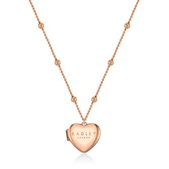 Radley Hello Love Rose Gold Tone Heart Locket - Product number 1158139