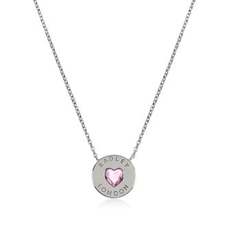 Radley Silver Pink Stone Heart Stone Pendant - Product number 1158155