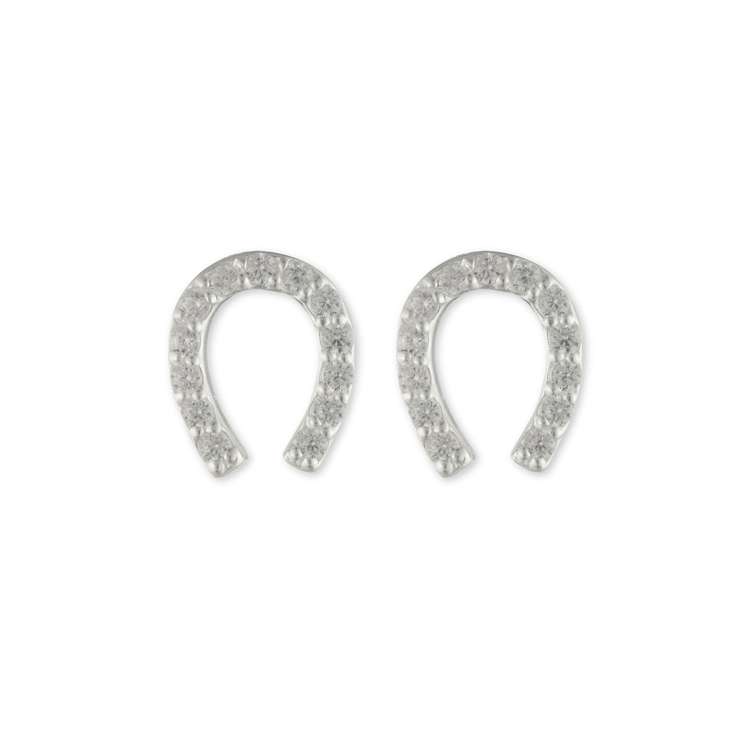 Lauren Ralph Lauren Silver Cubic Zirconia Horseshoe Earrings - Product number 1158295