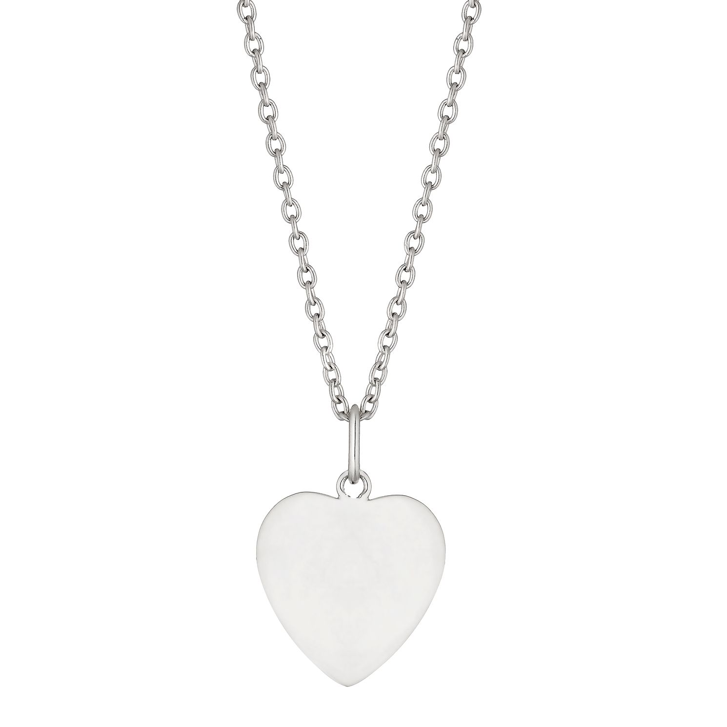 Silver Polished Heart Pendant - Product number 1158414