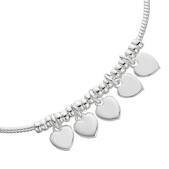 Silver Heart Charm Bracelet - Product number 1159135