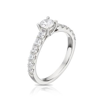 The Diamond Story Platinum 1ct Total Diamond Solitaire Ring - Product number 1159437