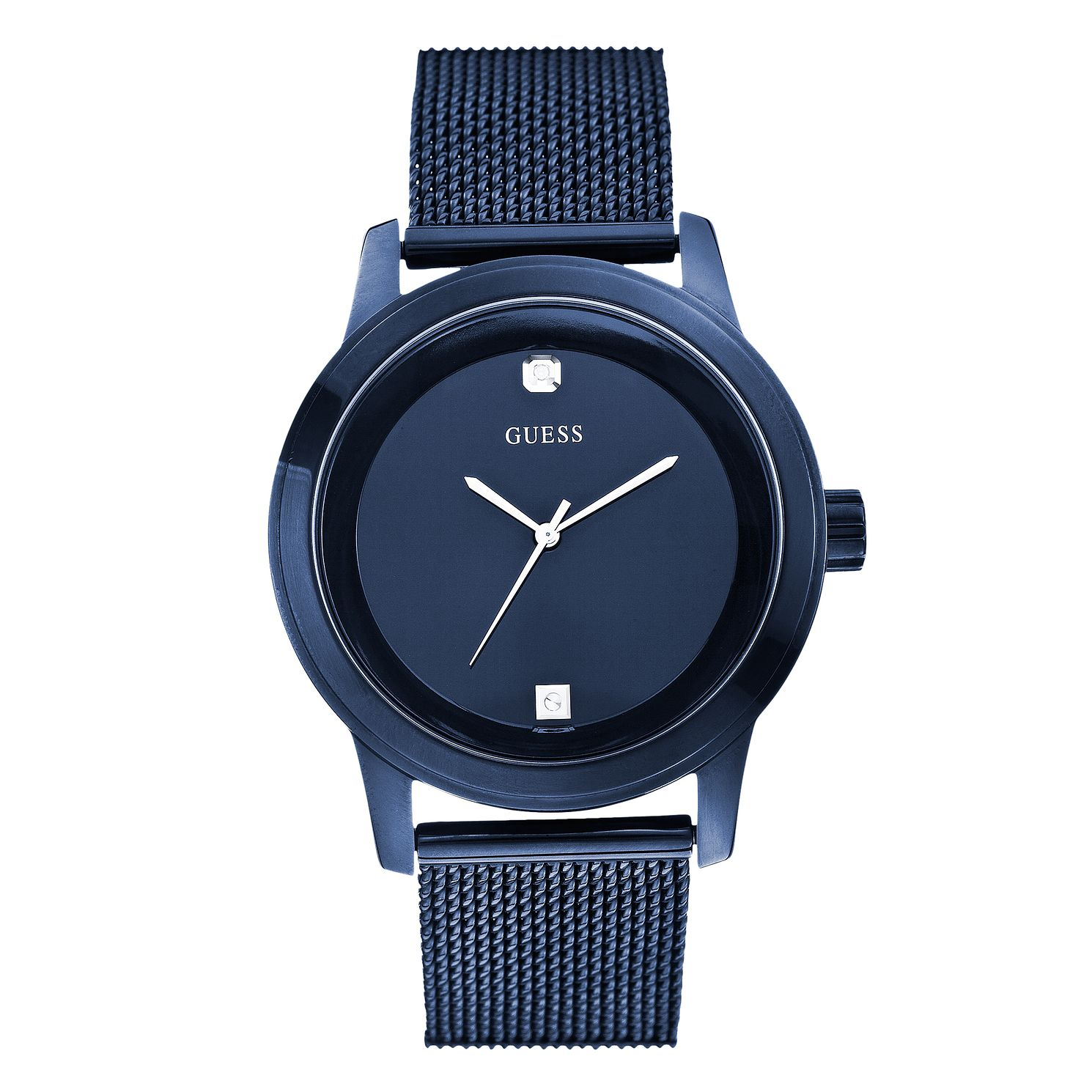Guess Telescope Men's Blue IP Mesh Bracelet Watch - Product number 1160397