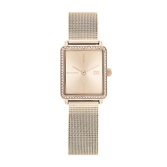 Tommy Hilfiger Ladies' Gold Tone Mesh Bracelet Watch - Product number 1160427