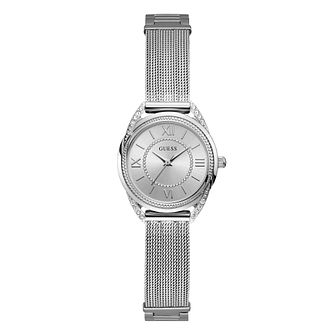 Guess Whisper Ladies' Stainless Steel Mesh Bracelet Wath - Product number 1160451