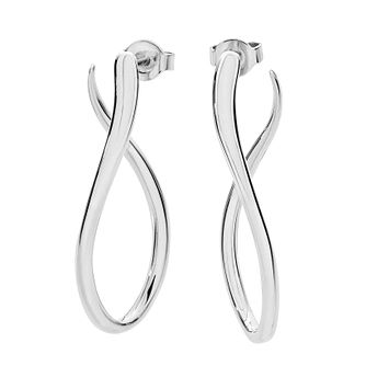 Lucy Quartermaine Silver 925 Melting Drop Hoop Earrings - Product number 1160621