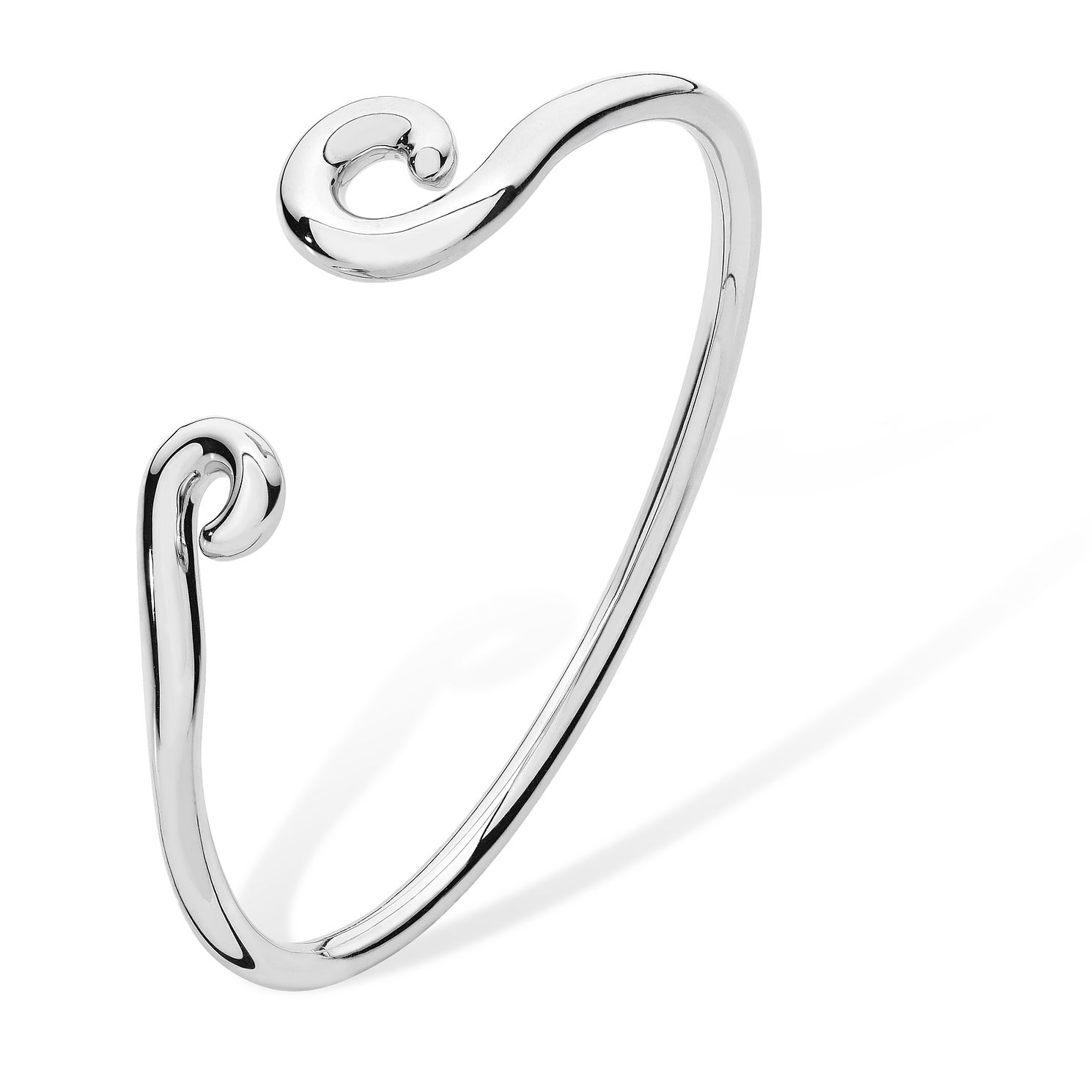 Lucy Quartermaine Silver 925 Twist Element Bangle - Product number 1160656
