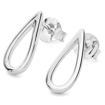 Lucy Quartermaine Silver 925 Petal Stud Earrings - Product number 1160702