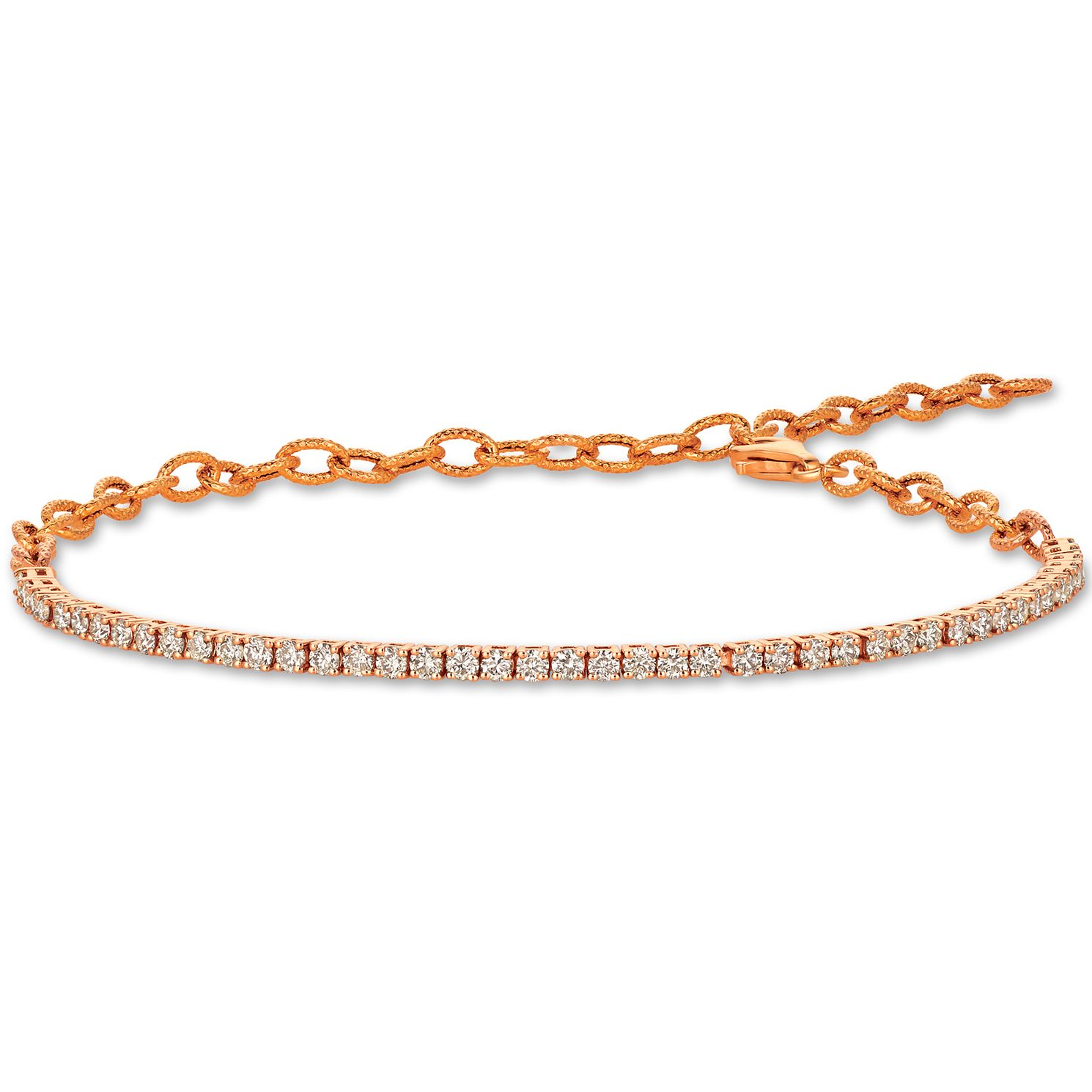 Le Vian 14ct Strawberry Gold 1.20ct Nude Diamond Bracelet - Product number 1161342