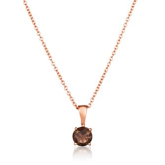 Le Vian 14ct Strawberry Gold Smoky Quartz Pendant - Product number 1161369