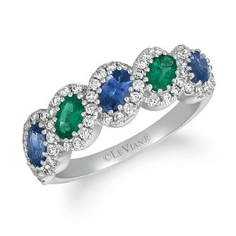 Le Vian 14ct Vanilla Gold Sapphire, Emerald & Diamond Ring - Product number 1162187