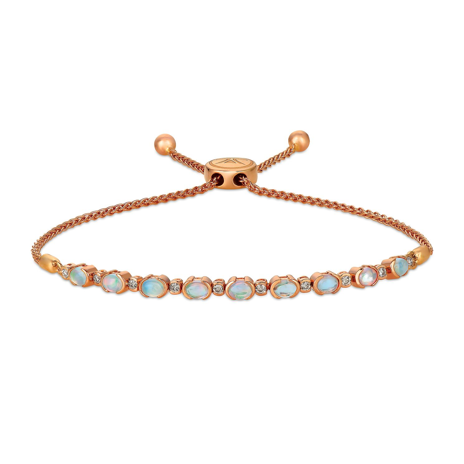 Le Vian 14ct Strawberry Gold Opal & 0.18ct Diamond Bracelet - Product number 1162586