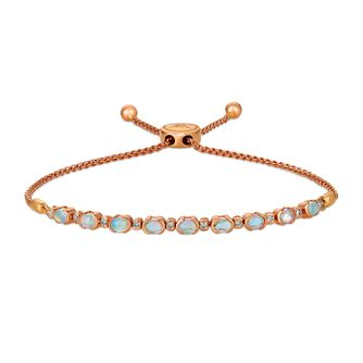 Le Vian 14ct Strawberry Gold Opal & Diamond Bolo Bracelet - Product number 1162586