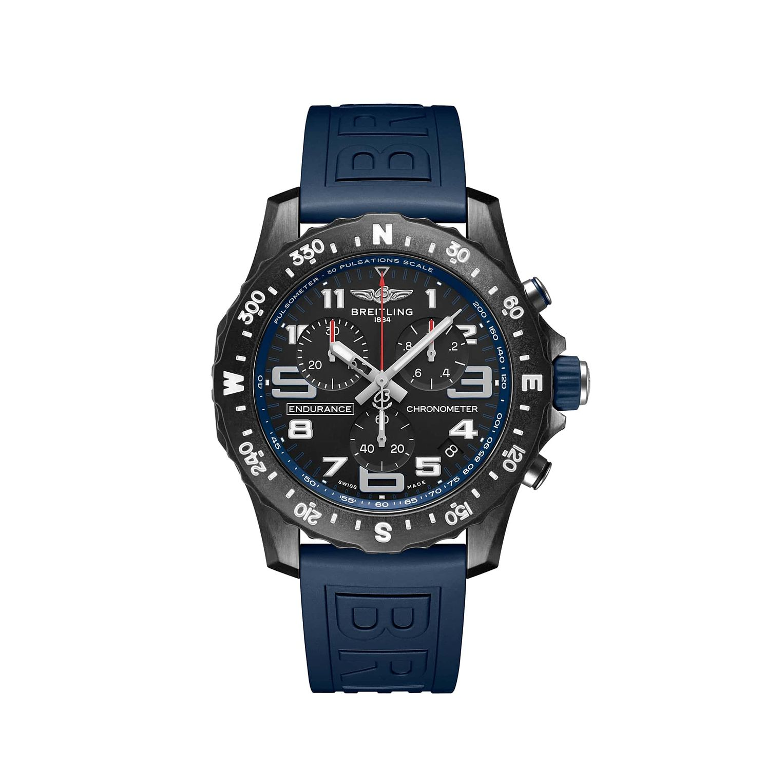 Breitling Endurance Pro Chrono Blue Rubber Strap Watch - Product number 1162632