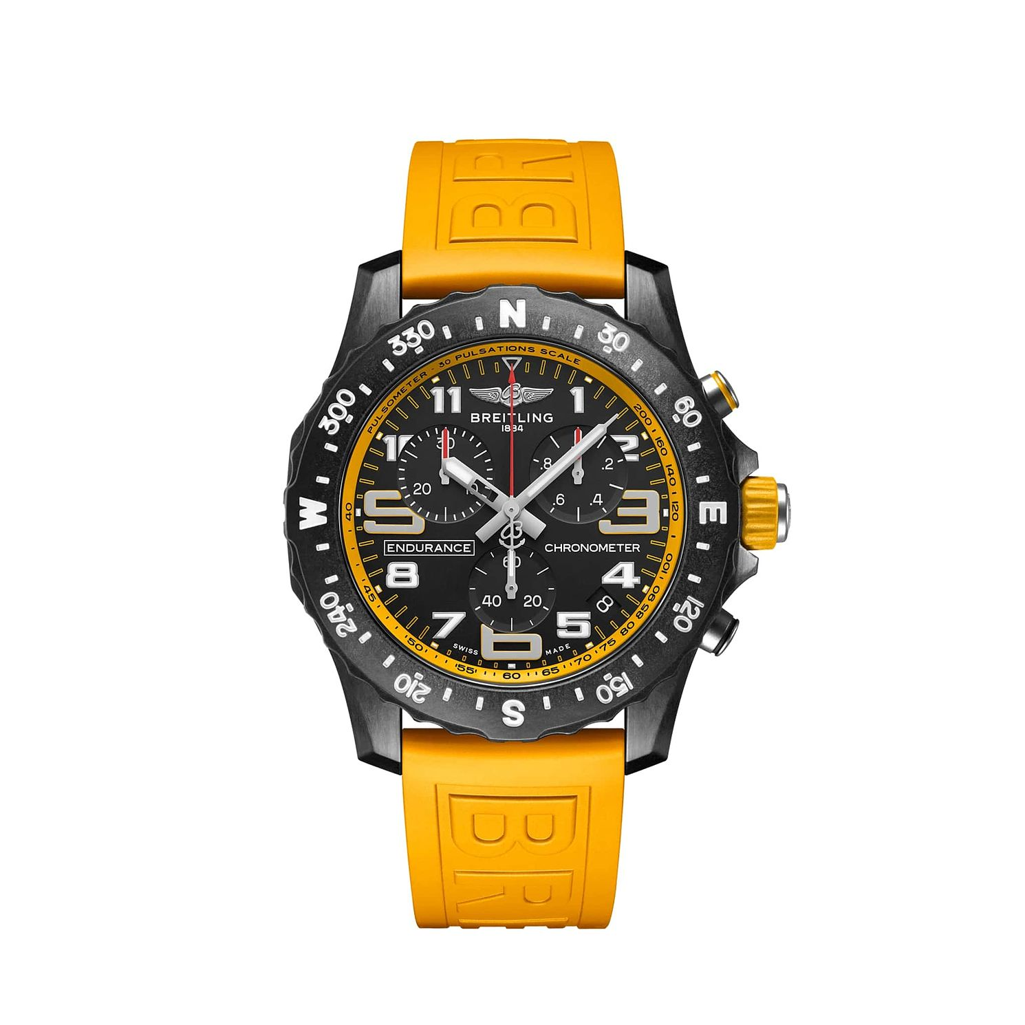 Breitling Endurance Pro Chrono Yellow Rubber Strap Watch - Product number 1162802