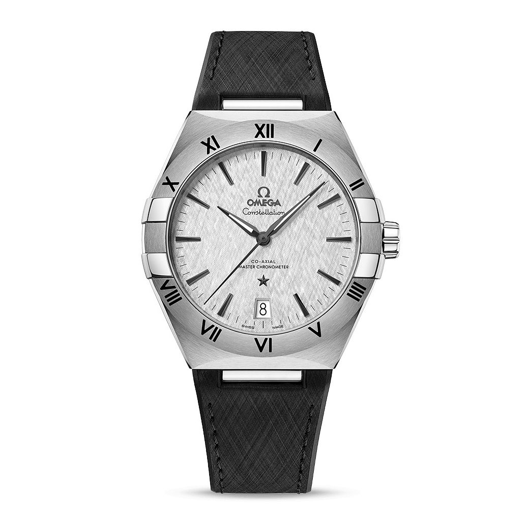 Omega Constellation Men's Black Rubber Strap Watch - Product number 1168290
