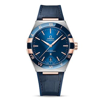 Omega Constellation Men's Blue Leather Strap Watch - Product number 1168304