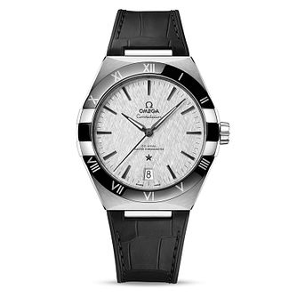 Omega Constellation Men's Black Leather Strap Watch - Product number 1168347