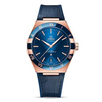 Omega Constellation Men's Blue Leather Strap Watch - Product number 1168363