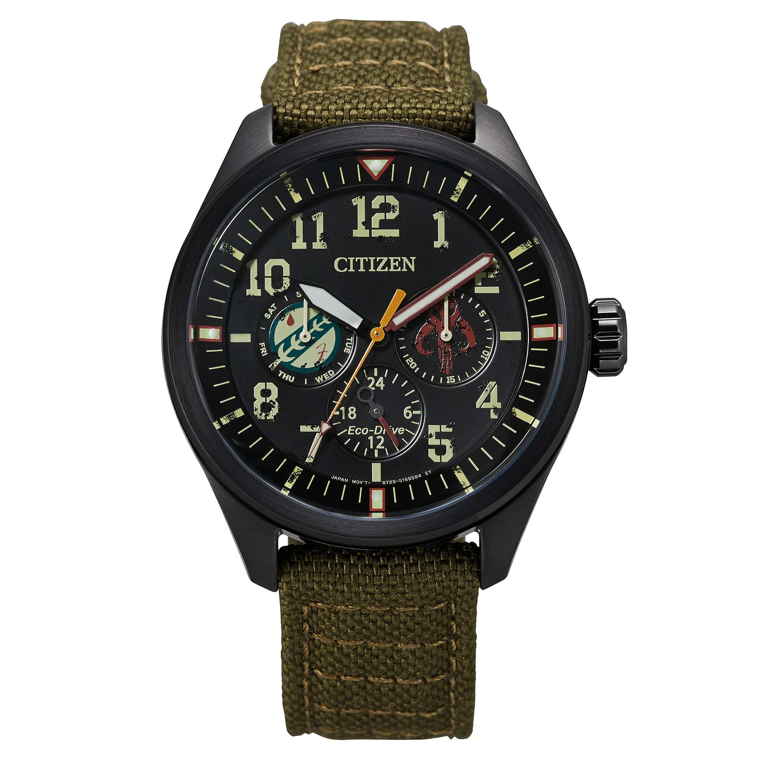 Citizen Star Wars Boba Fett Green Nylon Strap Watch - Product number 1168797