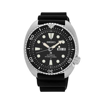 Seiko Prospex Turtle Men's Black Silicone Strap Watch - Product number 1168983