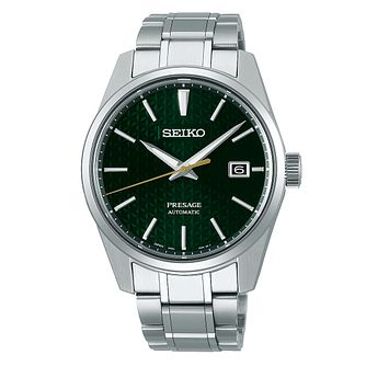 Seiko Presage Sharp Edged Men's Stainless Steel Watch - Product number 1169335