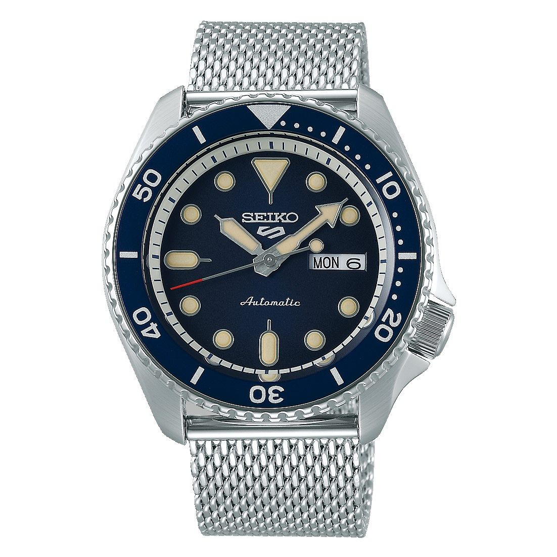 Seiko 5 Sports Men's Stainless Steel Mesh Bracelet Watch - Product number 1169408