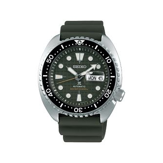 Seiko Prospex King Turtle Men's Green Silicone Strap Watch - Product number 1169459