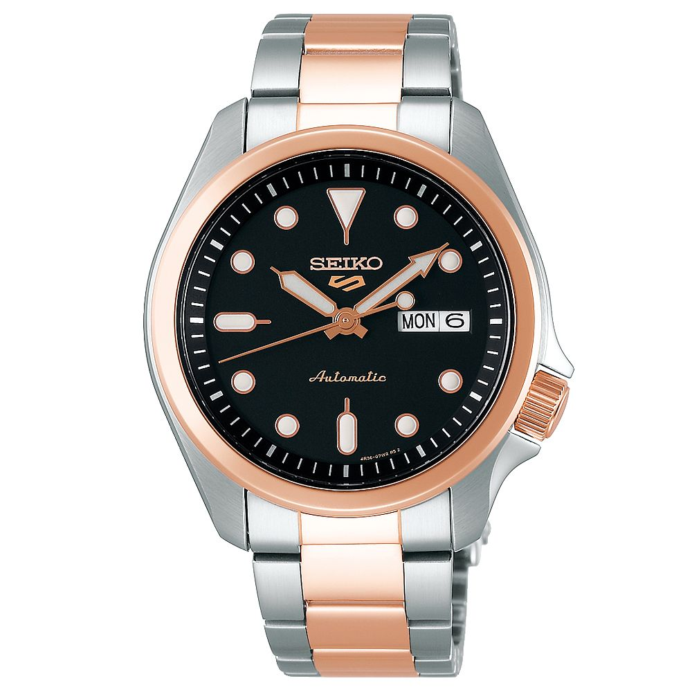 Seiko Sports 5 Men's Two Tone Bracelet Watch - Product number 1169726