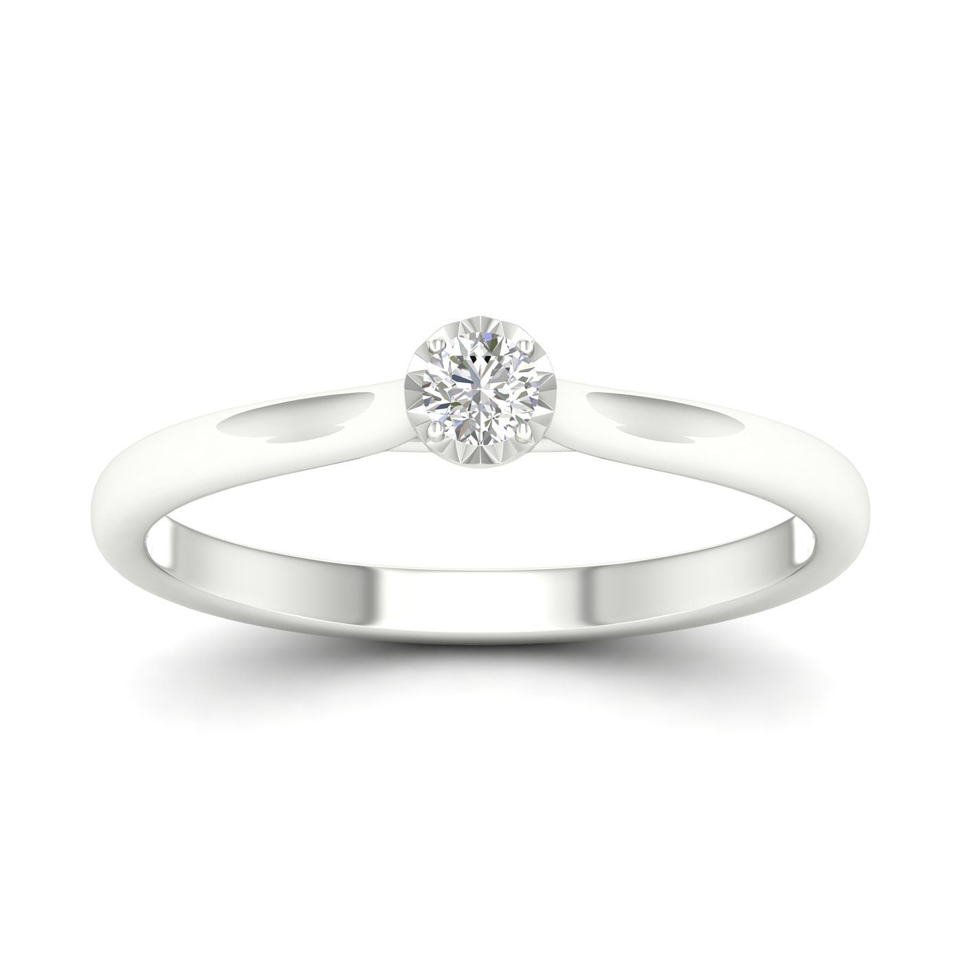 9ct White Gold 0.10ct Diamond Solitaire Ring - Product number 1170589