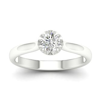 9ct White Gold 1/2ct Diamond Solitaire Ring - Product number 1170848