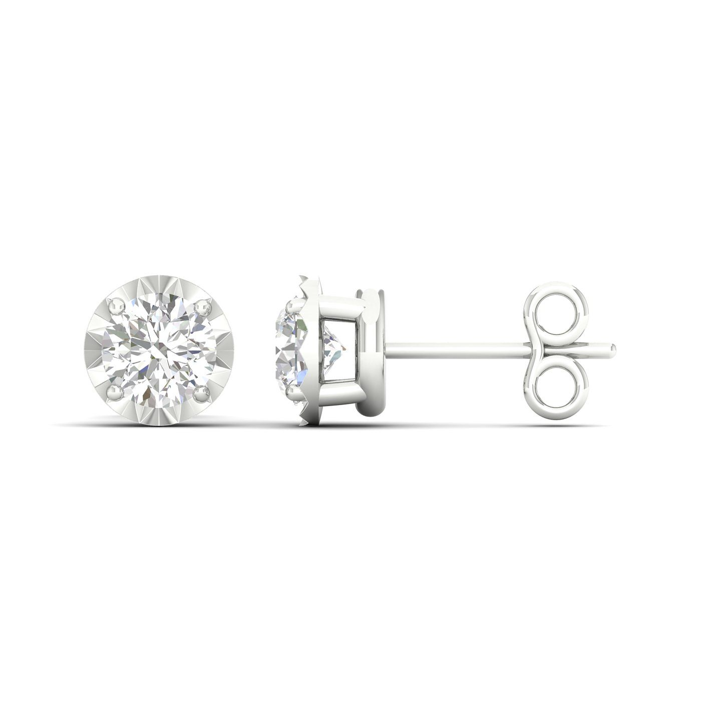 9ct White Gold 1/10ct Diamond Stud Earrings - Product number 1171895