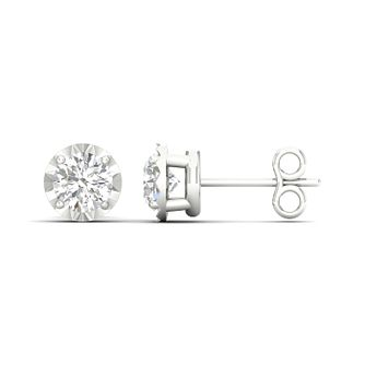 9ct White Gold 0.10ct Diamond Stud Earrings - Product number 1171895