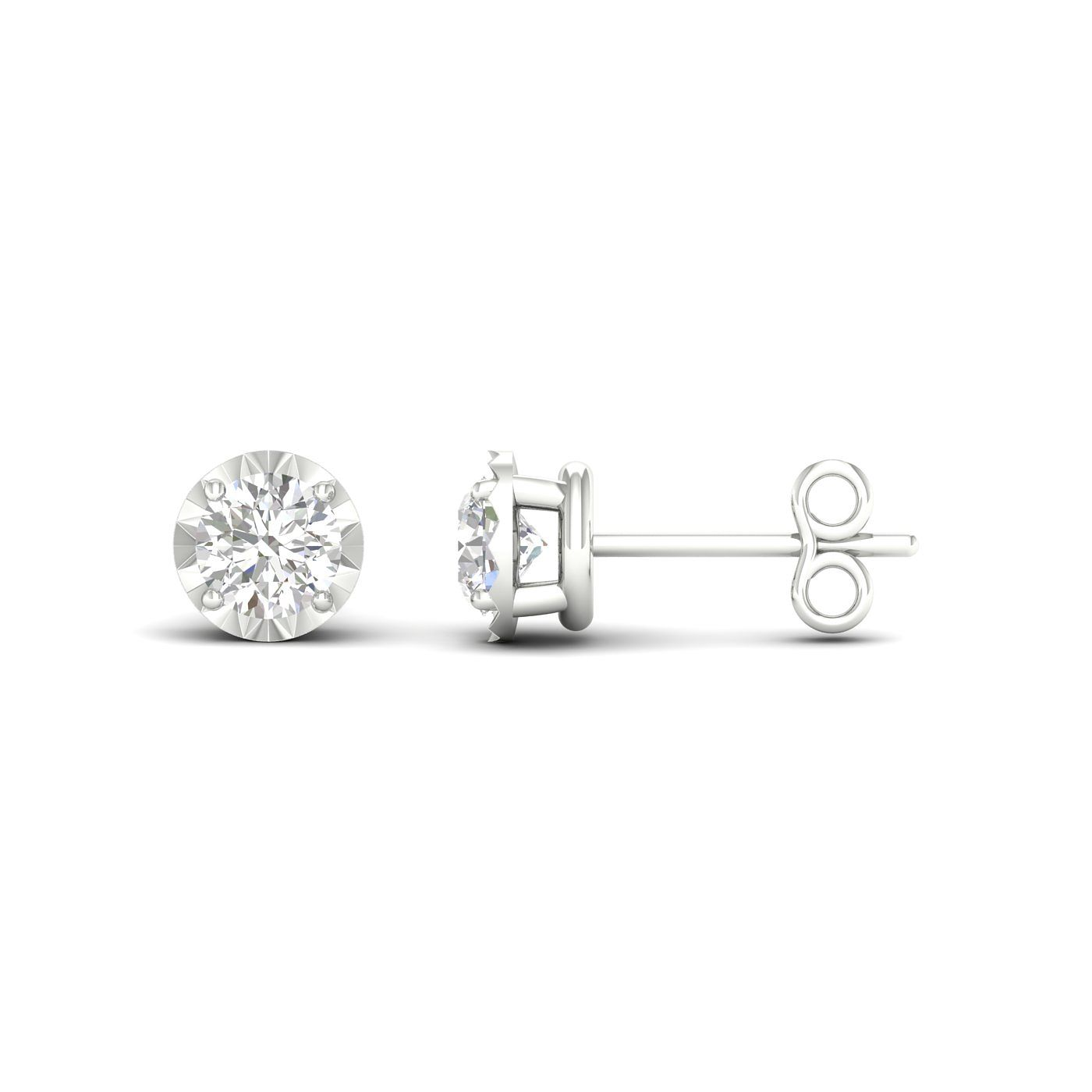 9ct White Gold 0.15ct Diamond Stud Earrings - Product number 1171909
