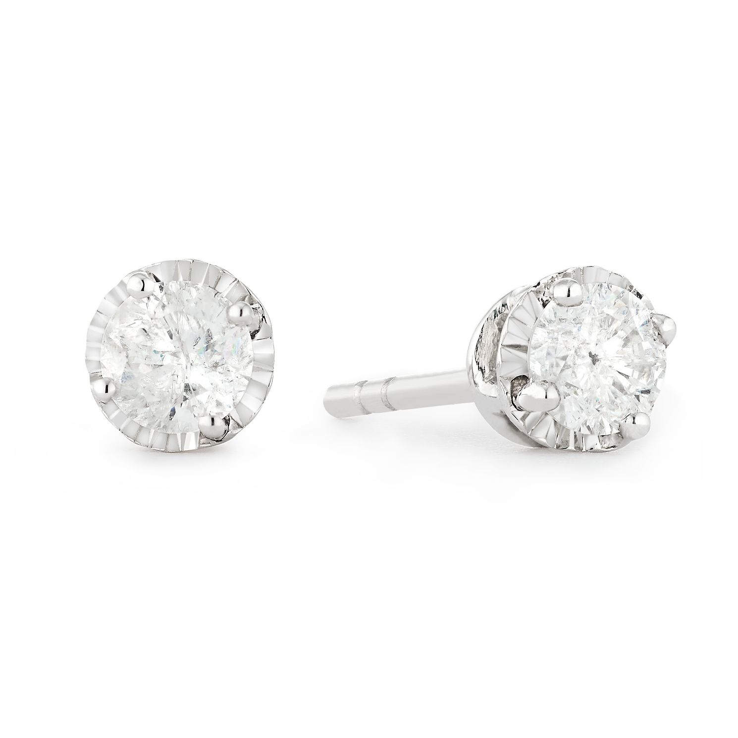 9ct White Gold 1/4ct Diamond Stud Earrings - Product number 1171917