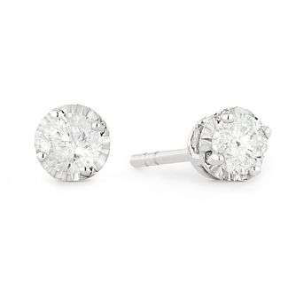 9ct White Gold 0.25ct Diamond Stud Earrings - Product number 1171917