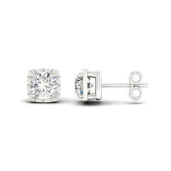 9ct White Gold 1/4ct Diamond Stud Earrings - Product number 1171925