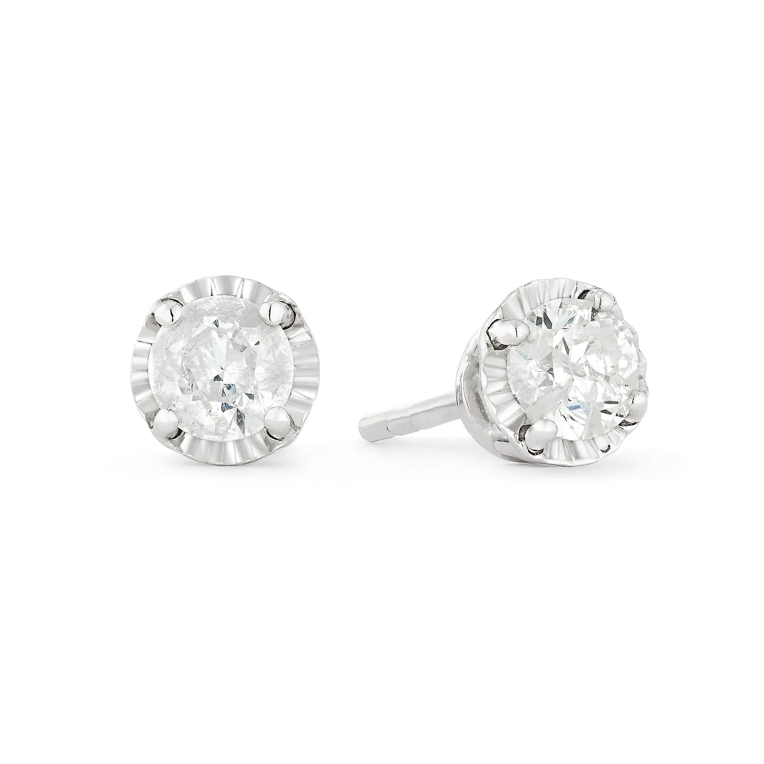 9ct White Gold 2/5ct Diamond Stud Earrings - Product number 1171933