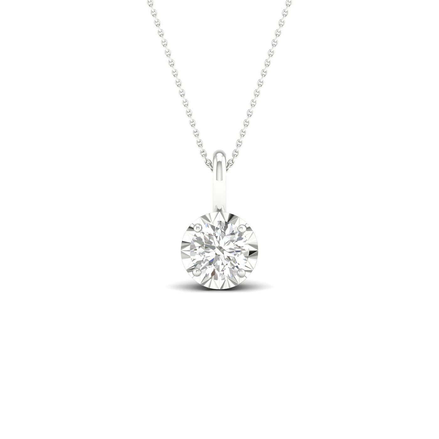 9ct White Gold 0.25ct Diamond Solitaire Pendant - Product number 1171976
