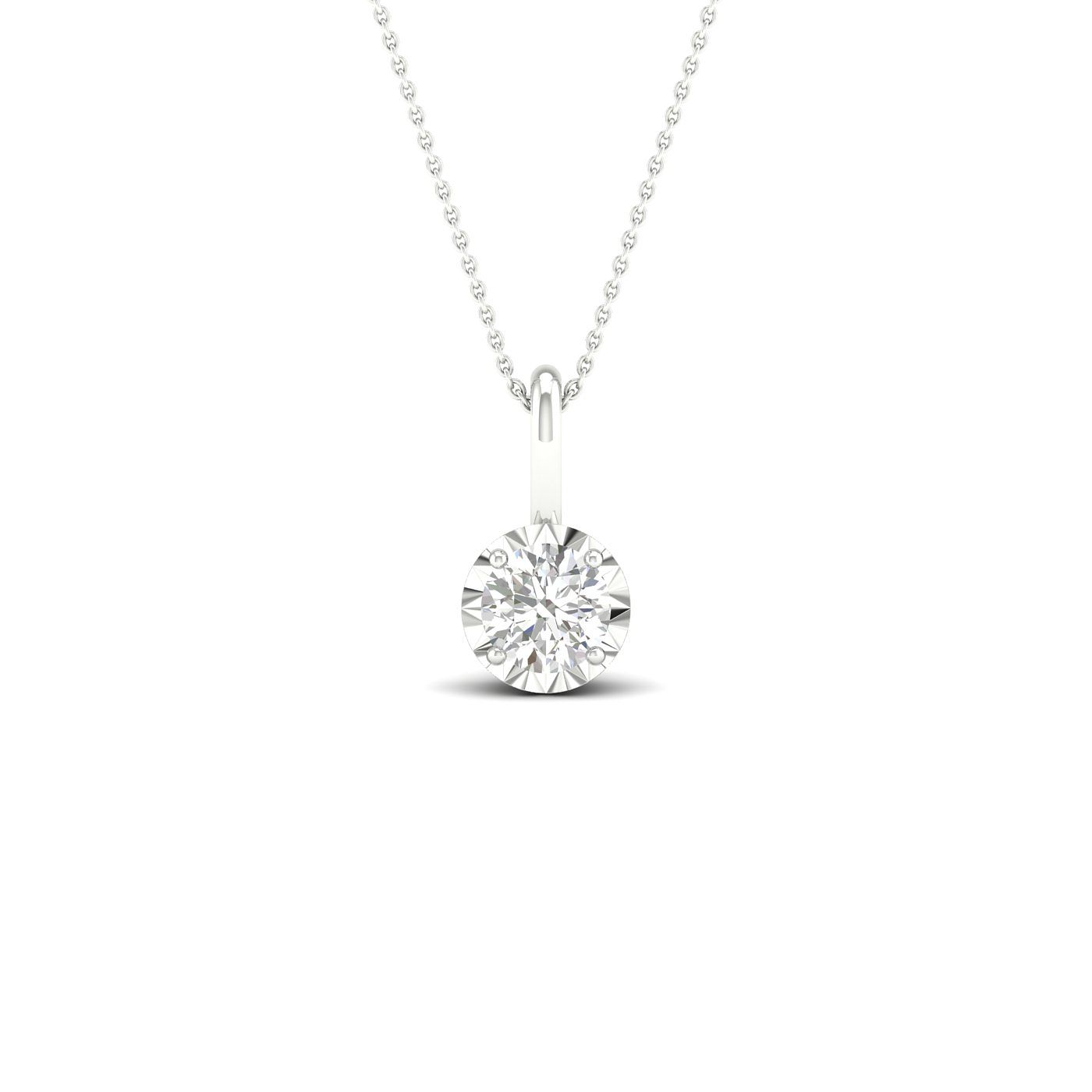 9ct White Gold 0.15ct Diamond Solitaire Pendant - Product number 1171992