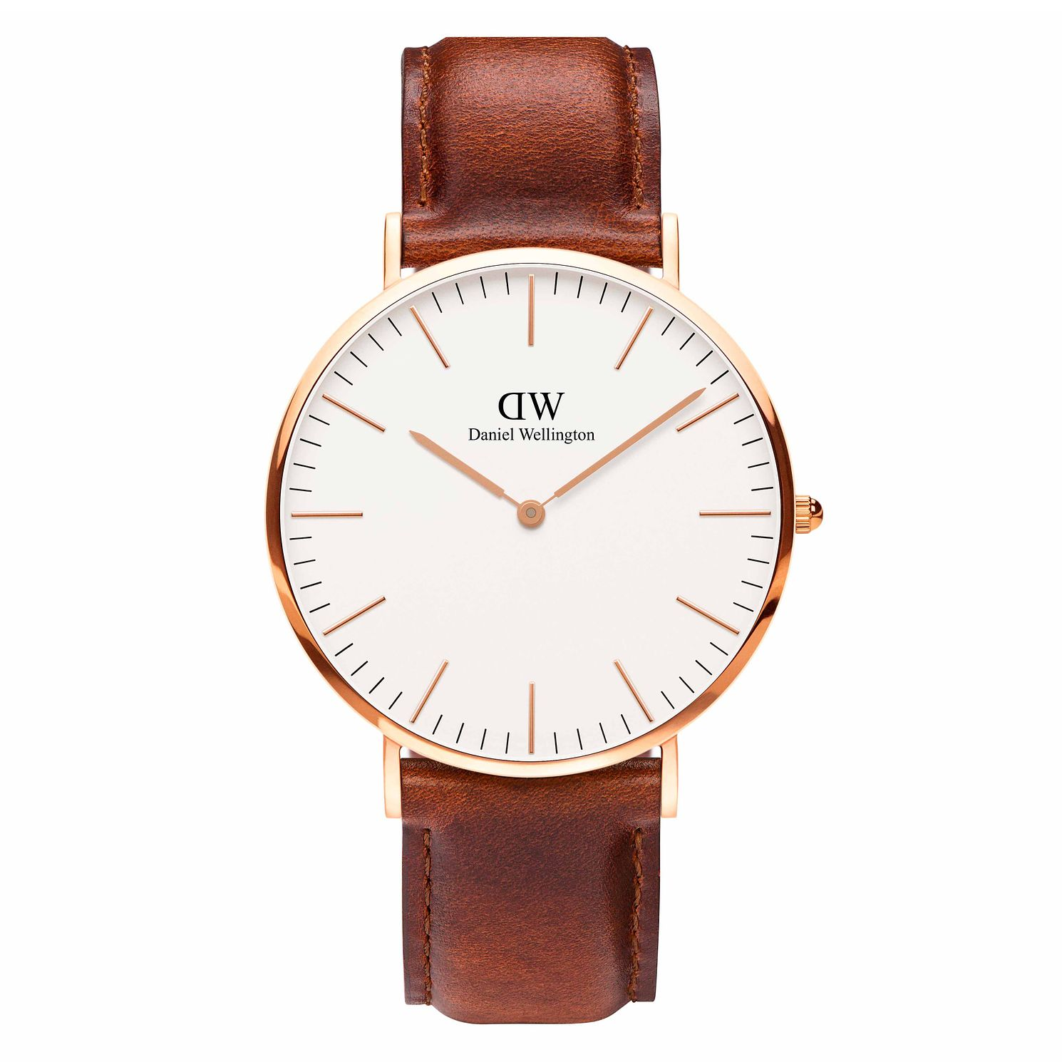 Daniel Wellington Men's St Mawes Brown Leather Strap Watch - Product number 1176749