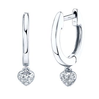 Shy Creation Kate 14ct White Gold Diamond Huggie Earrings - Product number 1177117
